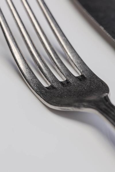 Linea retrò dettaglio forchetta