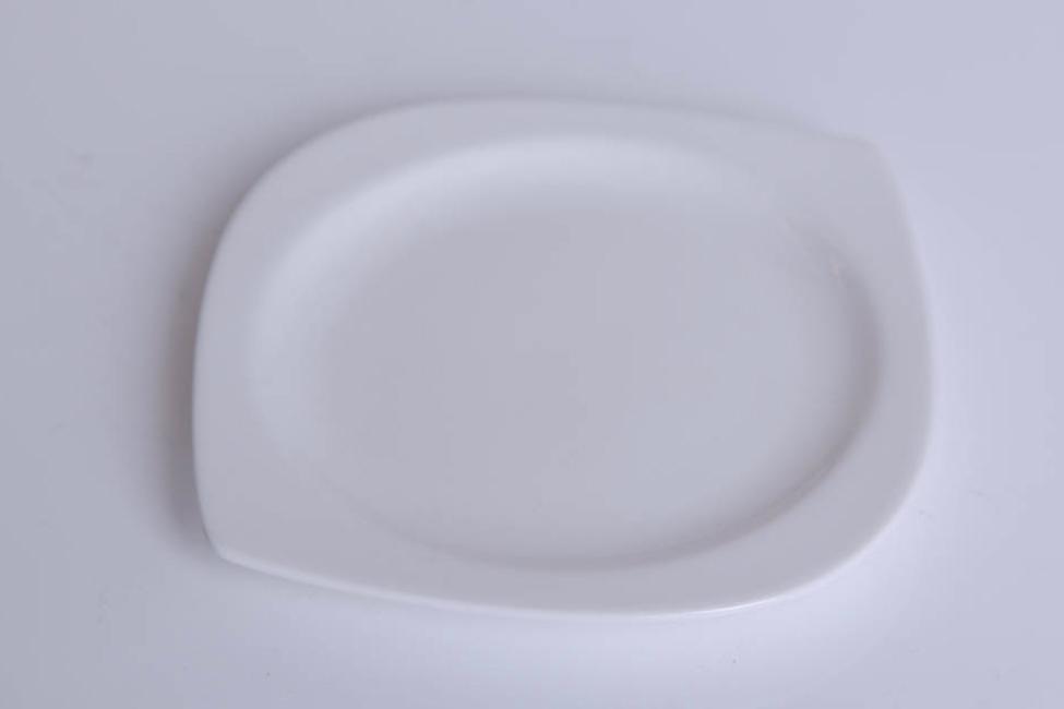 Piattino ovale avorio