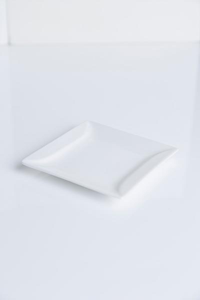 Piattino quadrato avorio
