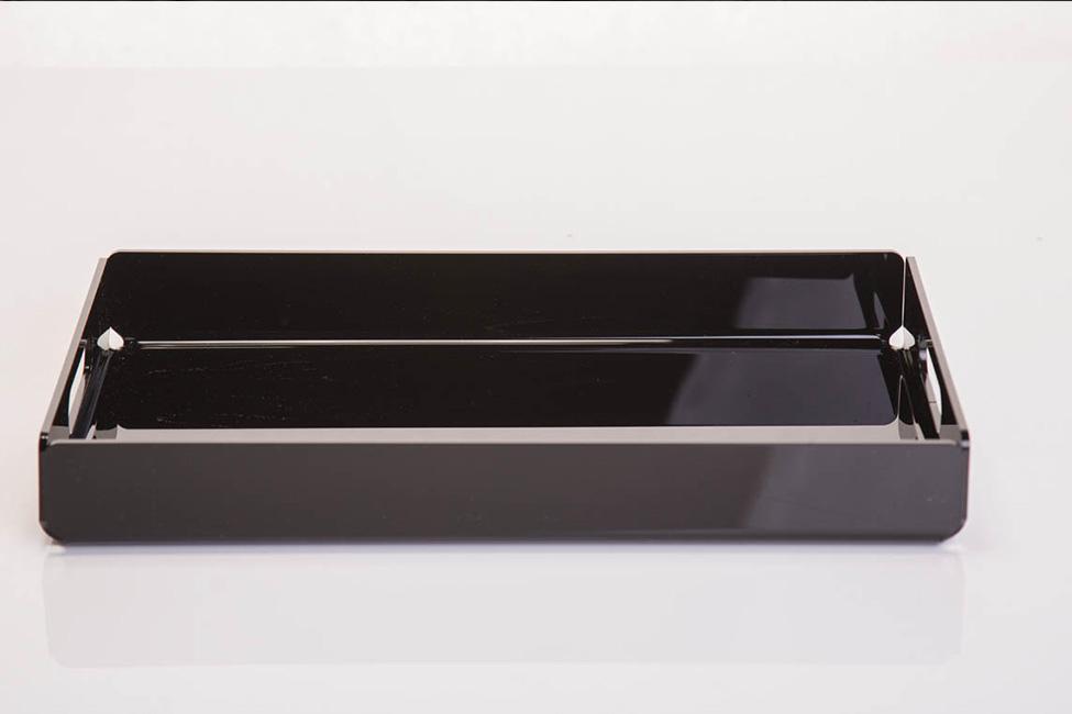 Vassoio in Plexiglass nero