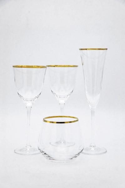 Bicchieri Filo Oro