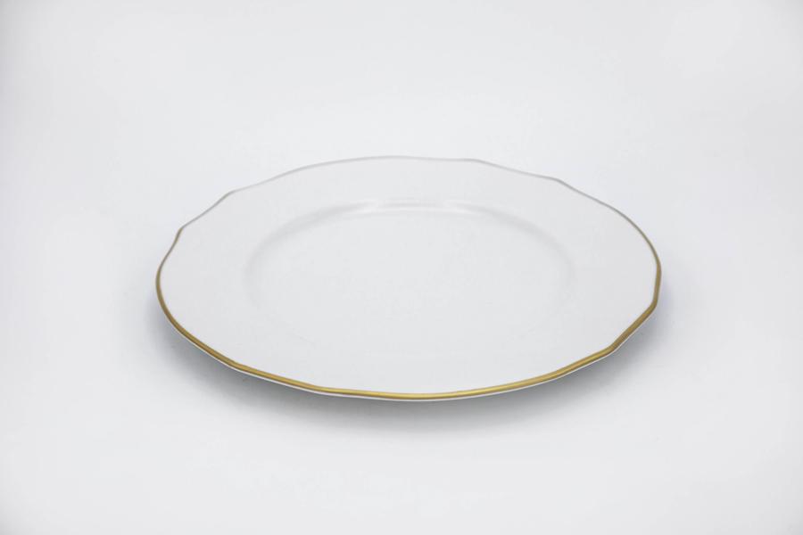 Piatto Dessert Filo Oro